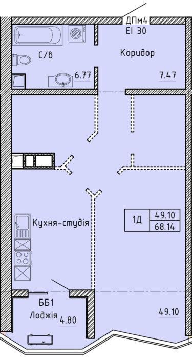 Апартаменты 1Д