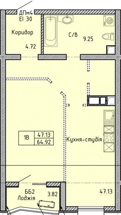 Апартаменты 1В