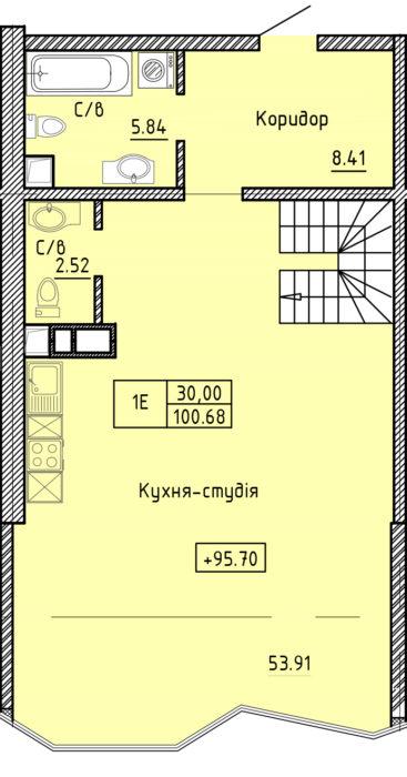 Апартаменты 1Е (2ур.)