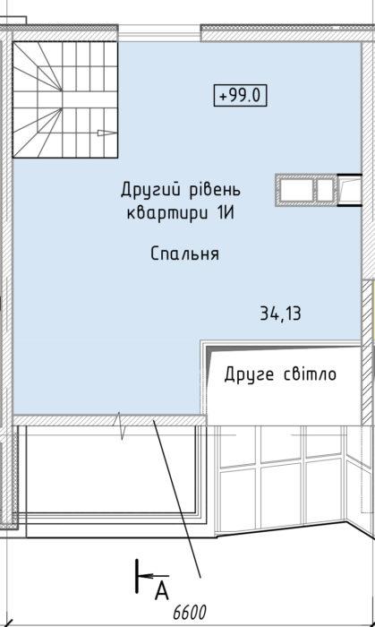 Апартаменты 1И (2ур.)
