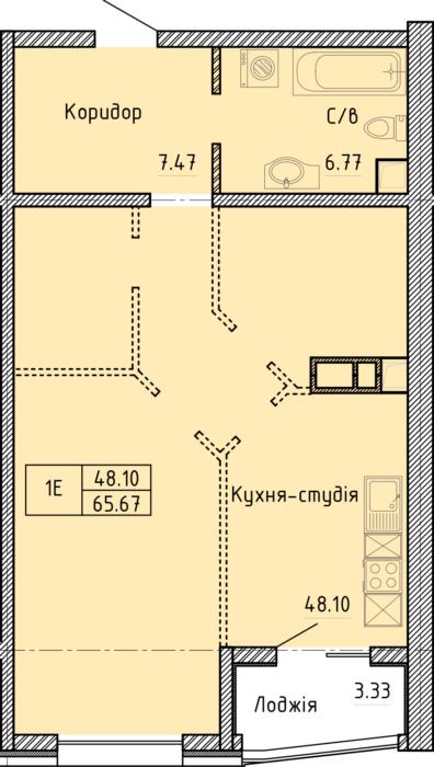 Апартаменты 1Е