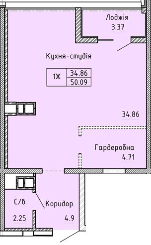 Апартаменты 1Ж